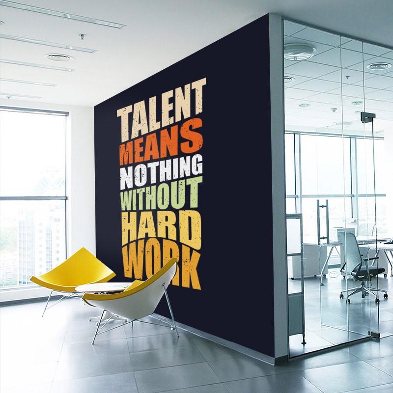 Αυτοκόλλητα Τοίχου - Talent means