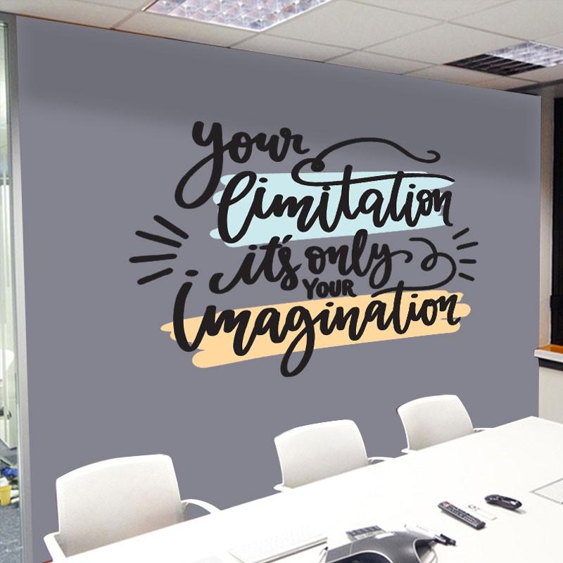 Αυτοκόλλητο Τοίχου - Imagination