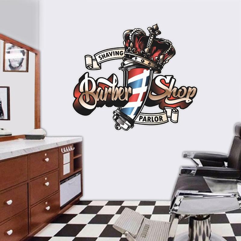 Αυτοκόλλητο Τοίχου - Shaving Parlor