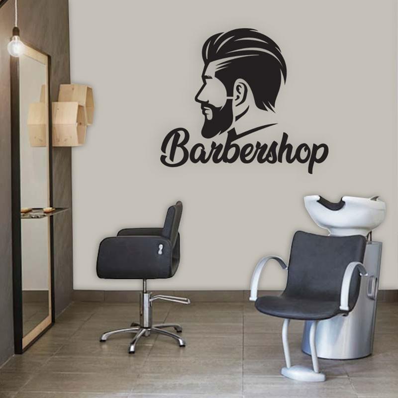 Αυτοκόλλητο Τοίχου - Male Hairdressing