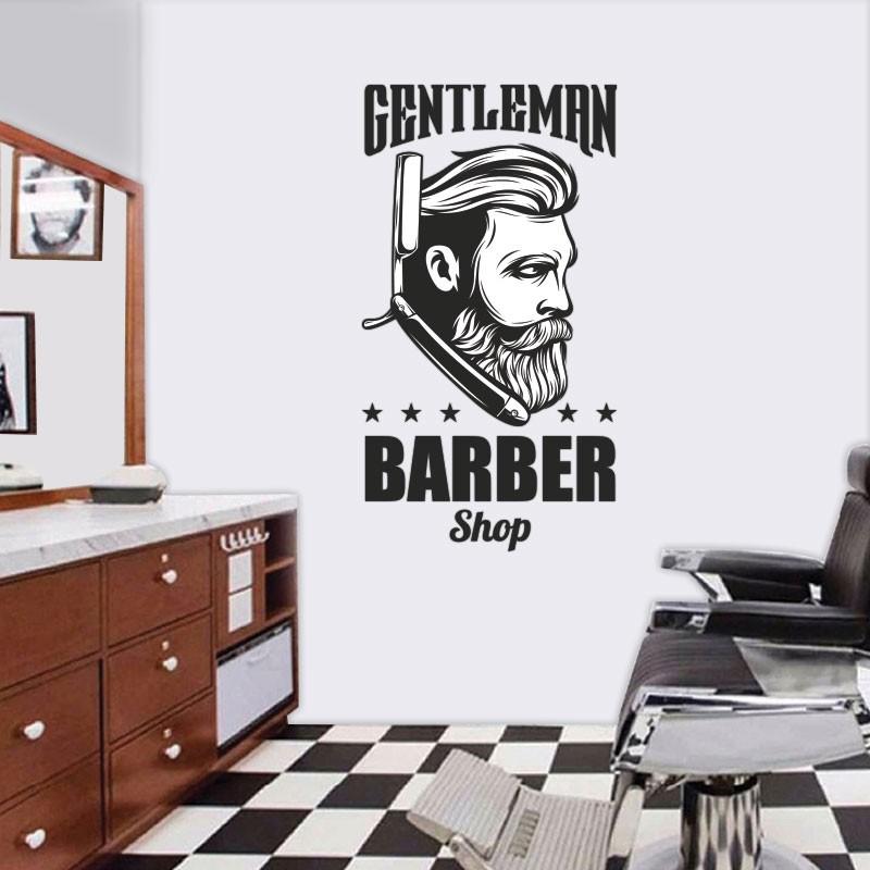 Αυτοκόλλητο Τοίχου - Gentleman Barber Shop