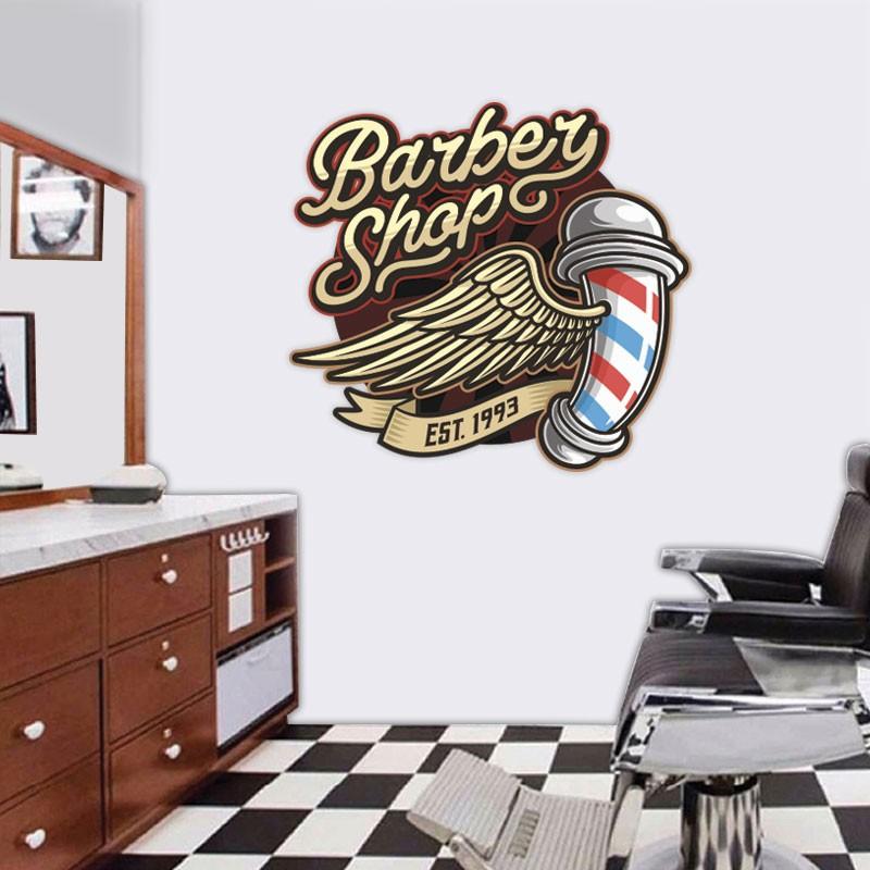 Αυτοκόλλητο Τοίχου - Barber Shop EST. 1993