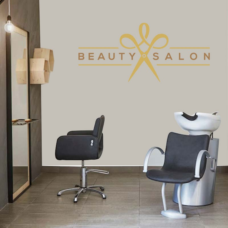 Αυτοκόλλητο Τοίχου - Beauty Salon