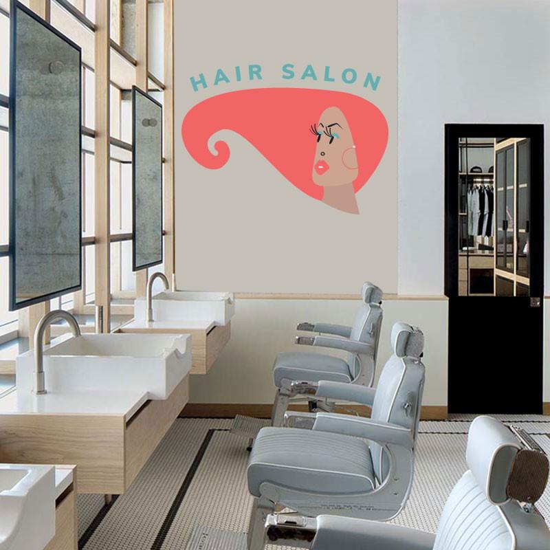 Αυτοκόλλητο Τοίχου - Hair Salon