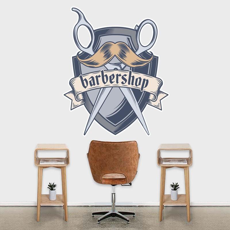 Αυτοκόλλητο Τοίχου - Barbershop