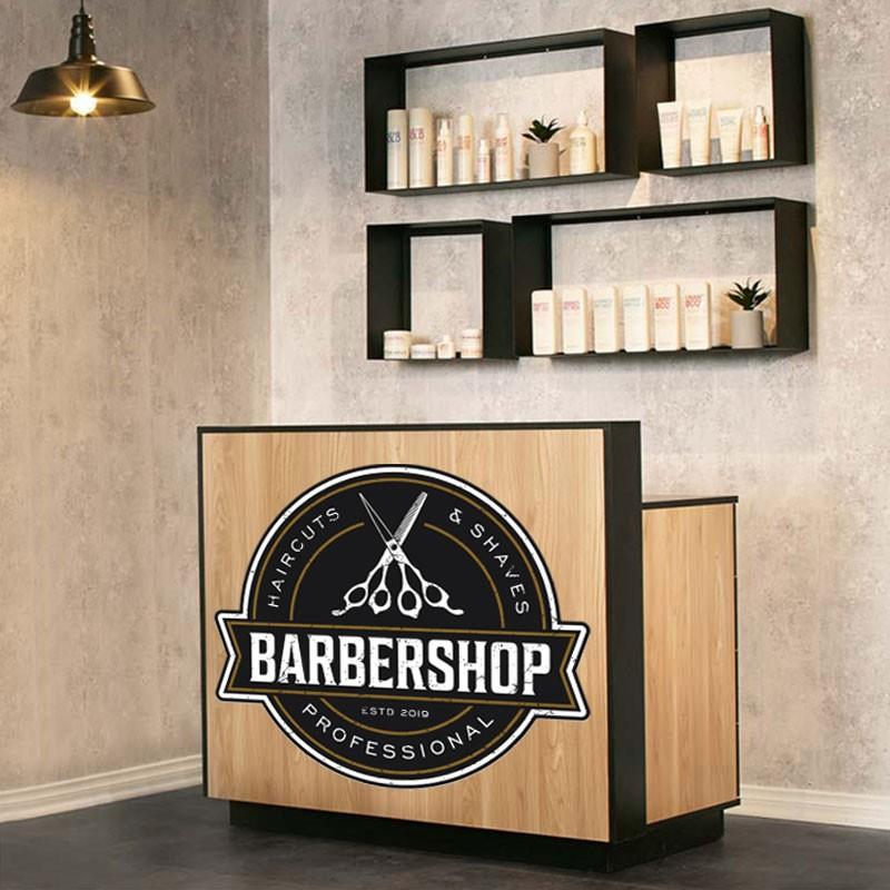 Αυτοκόλλητο Τοίχου - Professional Haircuts & Shaves