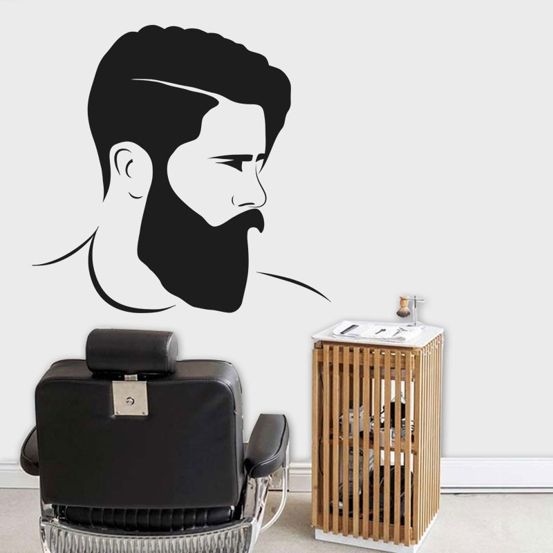 Αυτοκόλλητο Τοίχου - Men's Hairstyle
