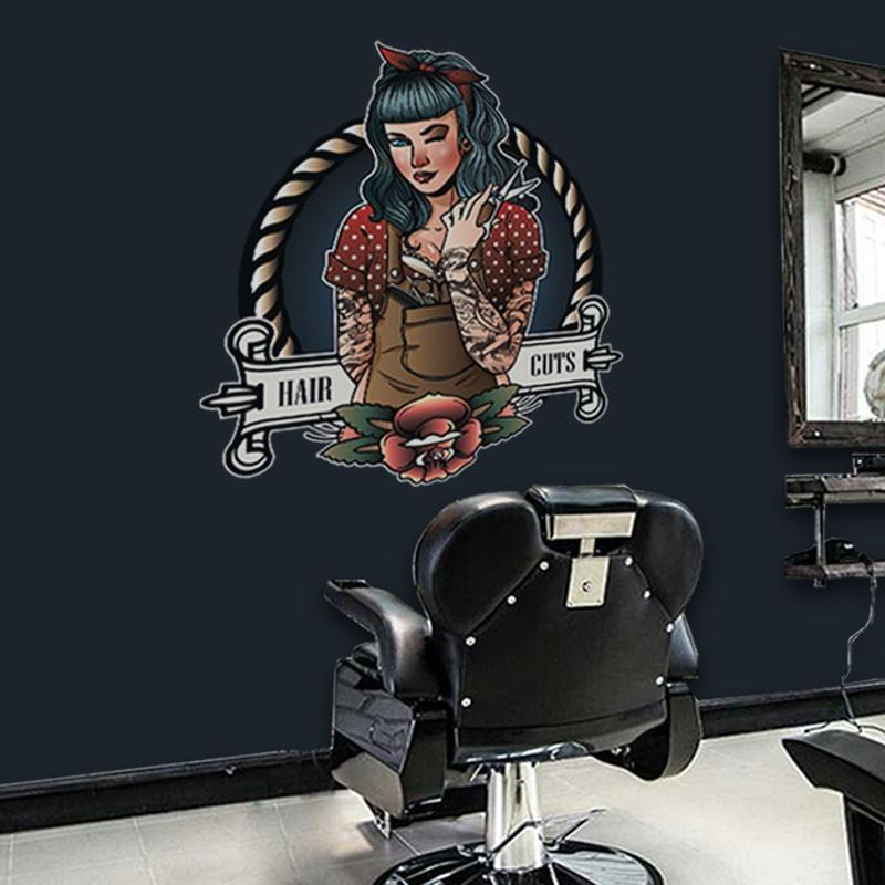 Αυτοκόλλητο Τοίχου - Hair Cuts
