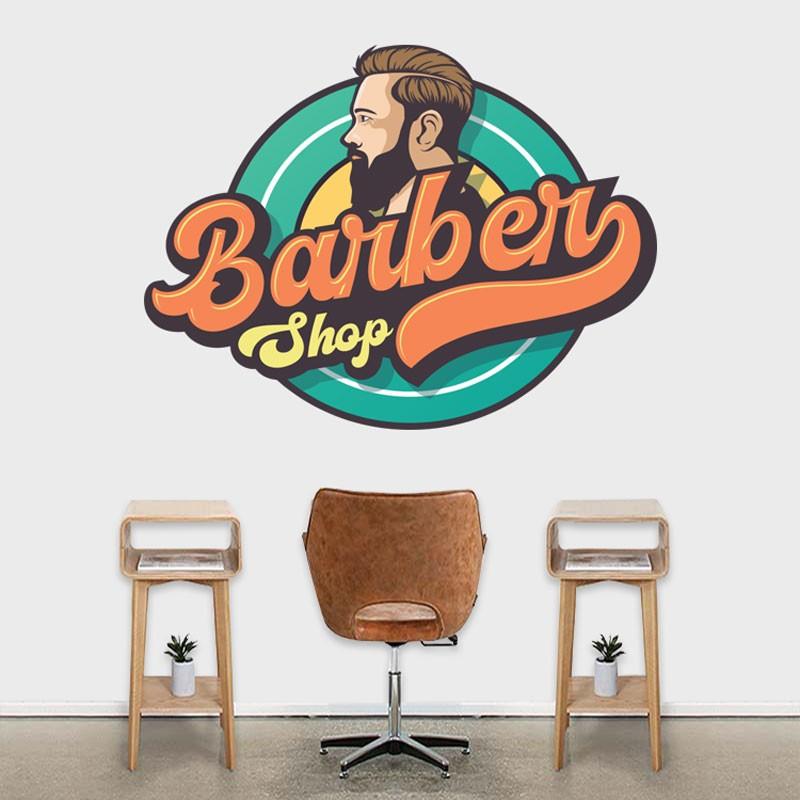 Αυτοκόλλητο Τοίχου - Barber Shop