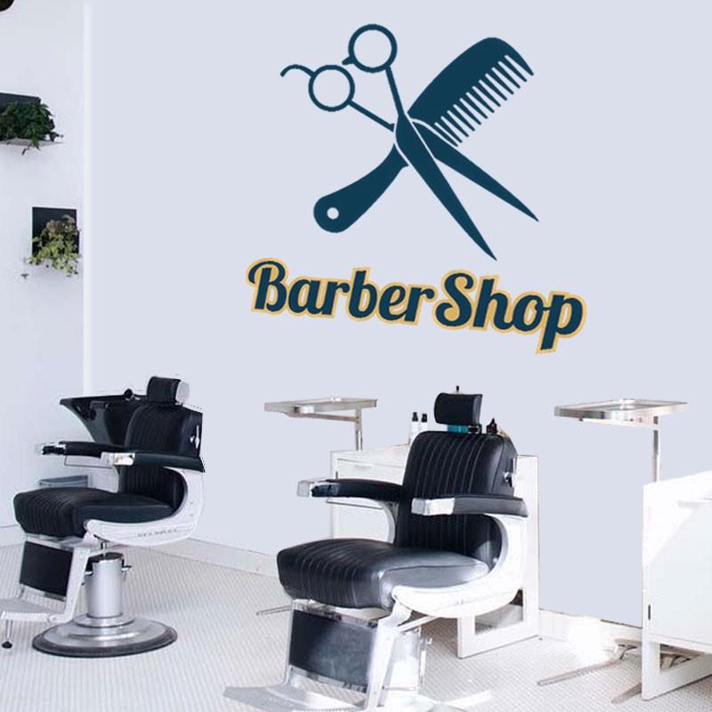 Αυτοκόλλητο Τοίχου - Barber Design