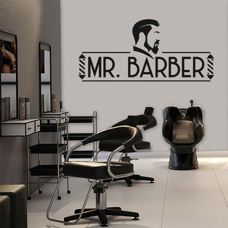 Αυτοκόλλητο Τοίχου - Mr. Barber