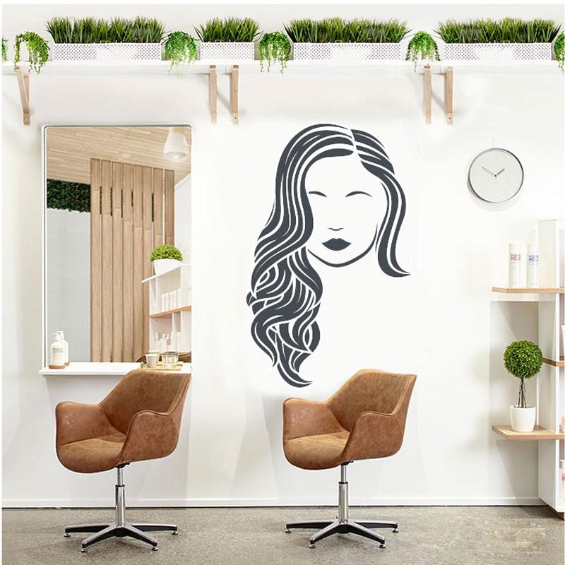 Αυτοκόλλητο Τοίχου - Woman With Long Hair