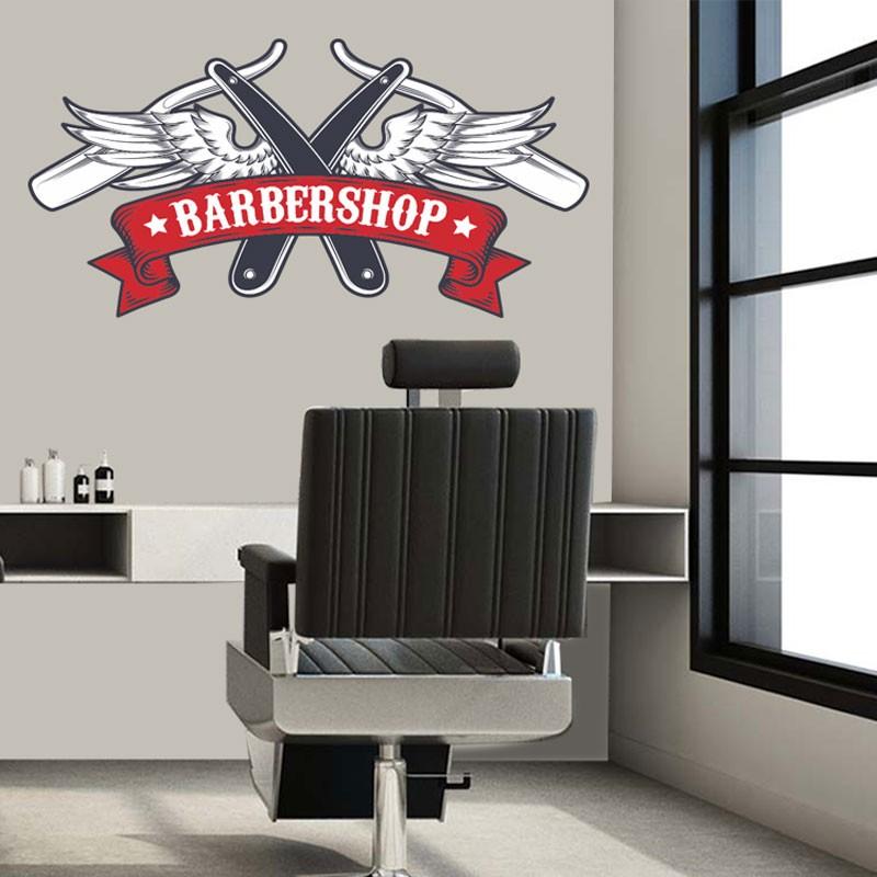 Αυτοκόλλητο Τοίχου - Grange Barbershop