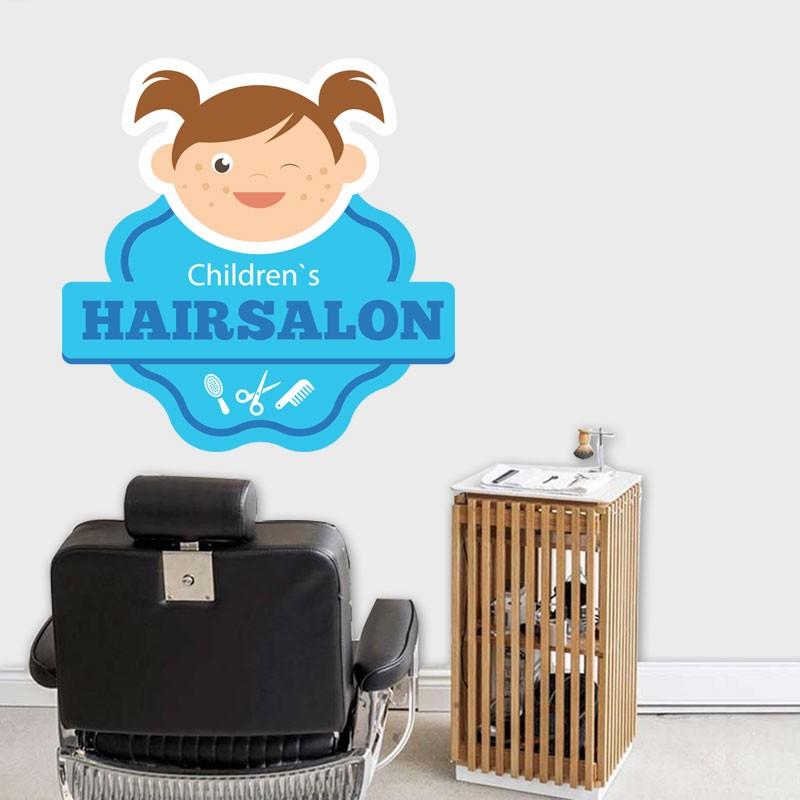 Αυτοκόλλητο Τοίχου - Children's Hairsalon
