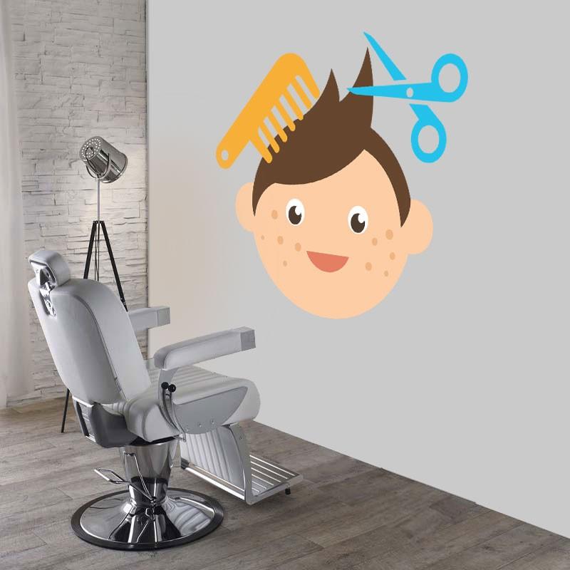 Αυτοκόλλητο Τοίχου - Kid's Hair Cut