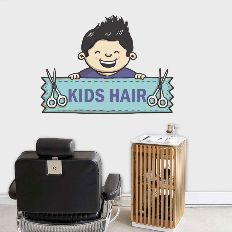 Αυτοκόλλητο Τοίχου - Kids Hair