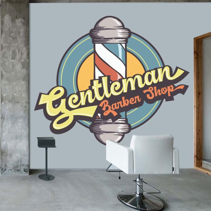 Αυτοκόλλητο Τοίχου - Gentleman Barber Shop!