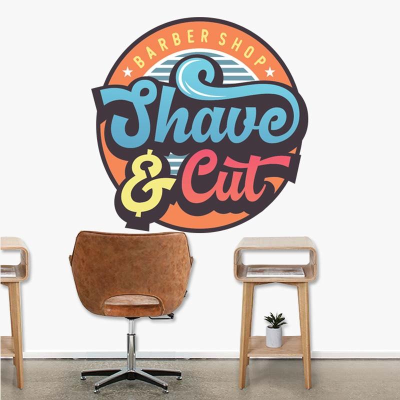 Αυτοκόλλητο Τοίχου - Shave & Cut