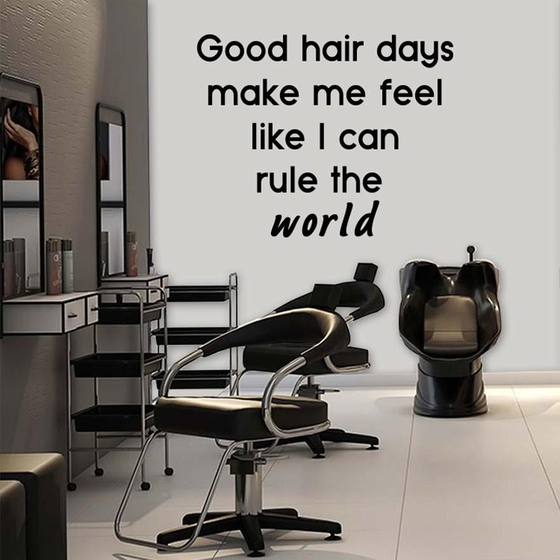 Αυτοκόλλητο Τοίχου - Good Hair Days...