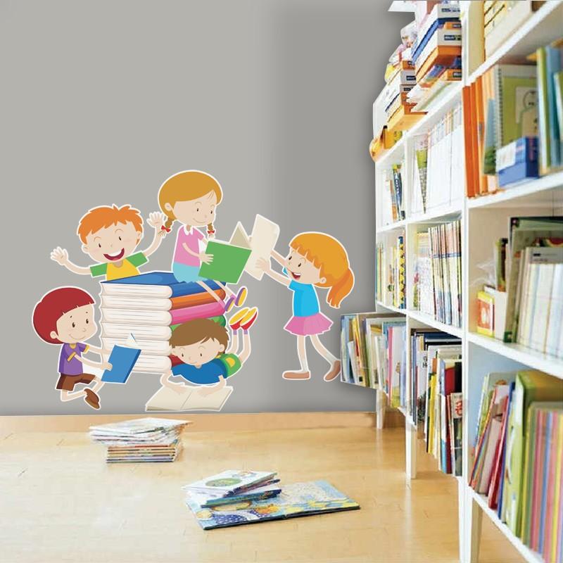 Αυτοκόλλητο Τοίχου - Παιδιά Που Μελετάνε
