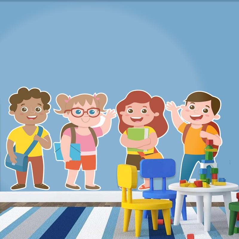 Αυτοκόλλητο Τοίχου - Χαρούμενα Παιδάκια