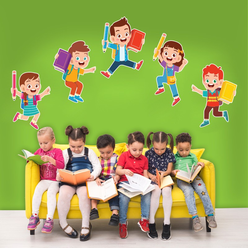 Αυτοκόλλητο Τοίχου - Παιδάκια Που Χοροπηδάνε