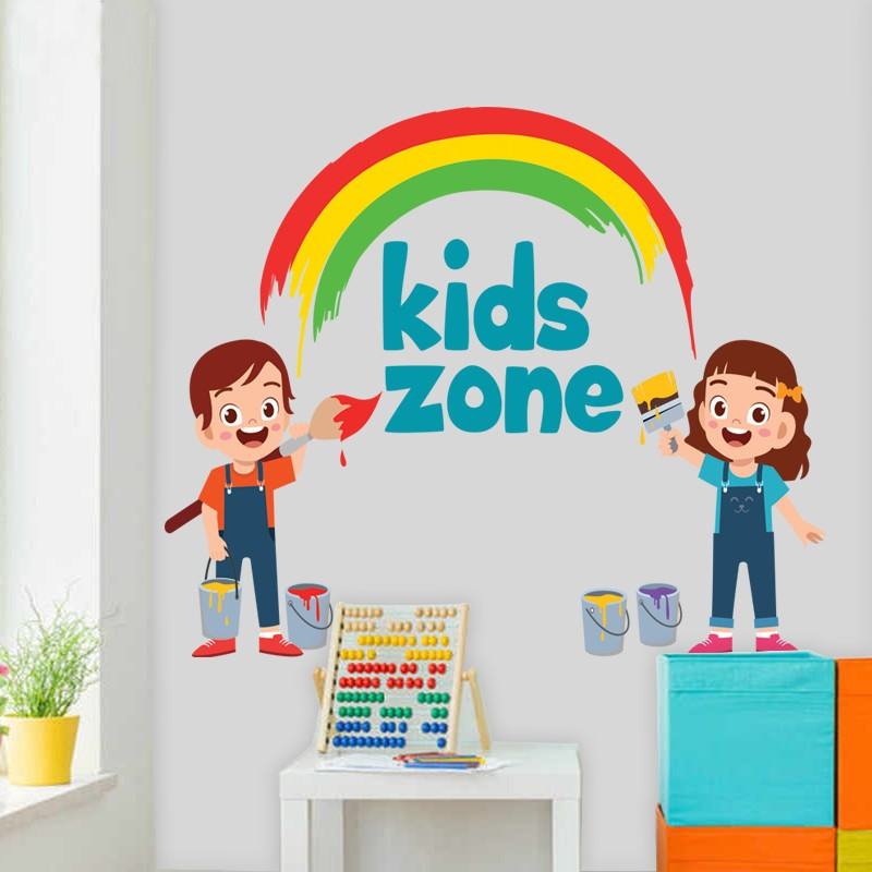 Αυτοκόλλητο Τοίχου - Kids Zone