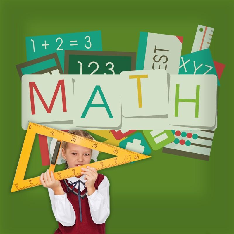 Αυτοκόλλητο Τοίχου - Math