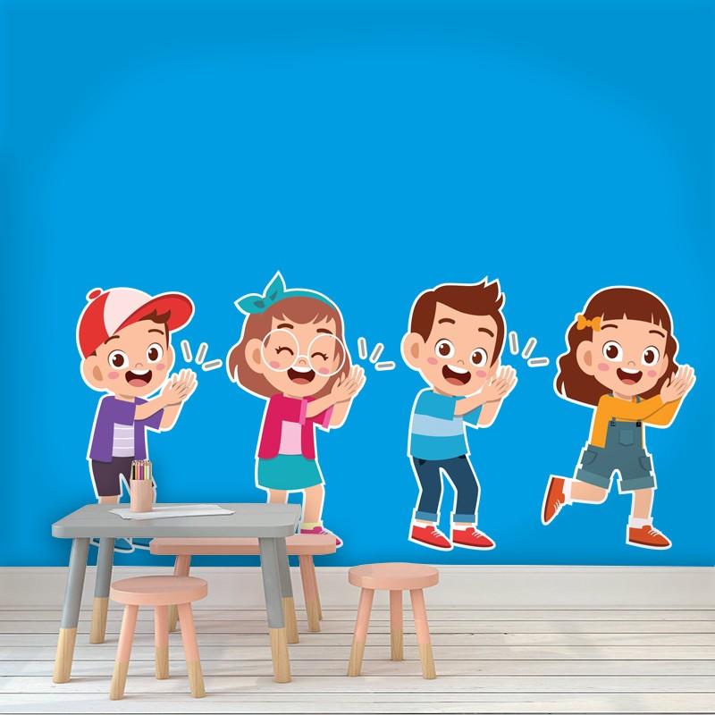 Αυτοκόλλητο Τοίχου - Παιδιά Που Χειροκροτάνε
