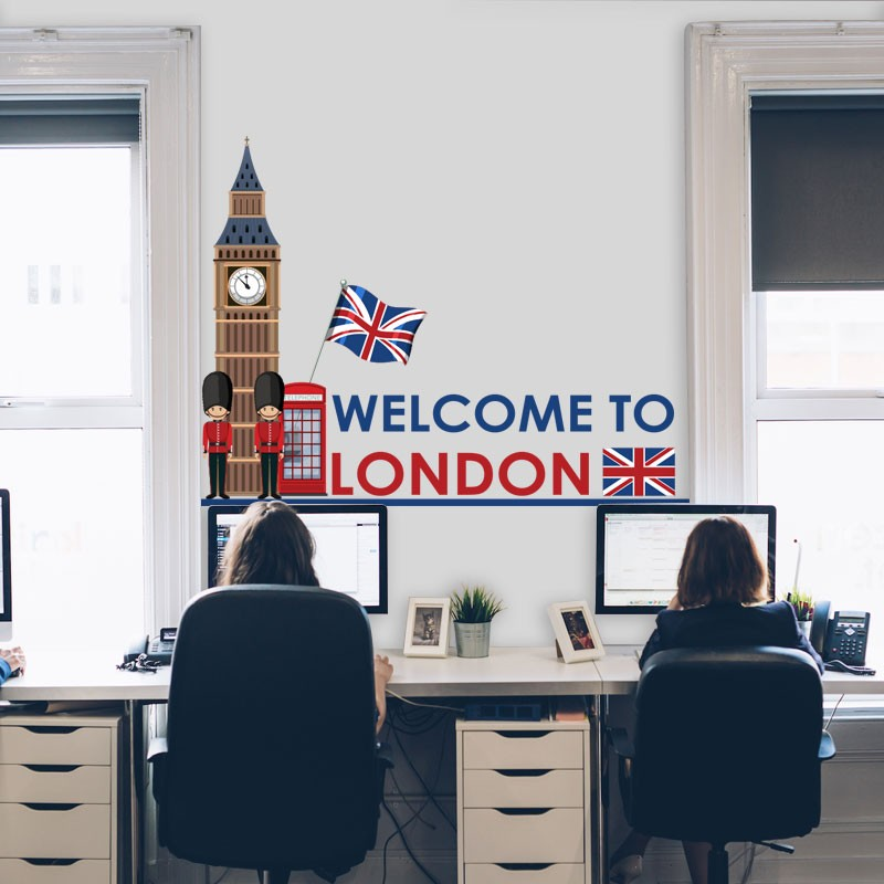 Αυτοκόλλητο Τοίχου - Welcome to London