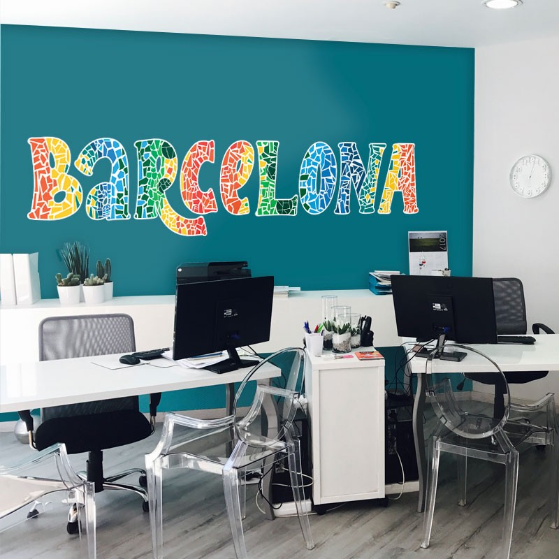 Αυτοκόλλητο Τοίχου - Barcelona