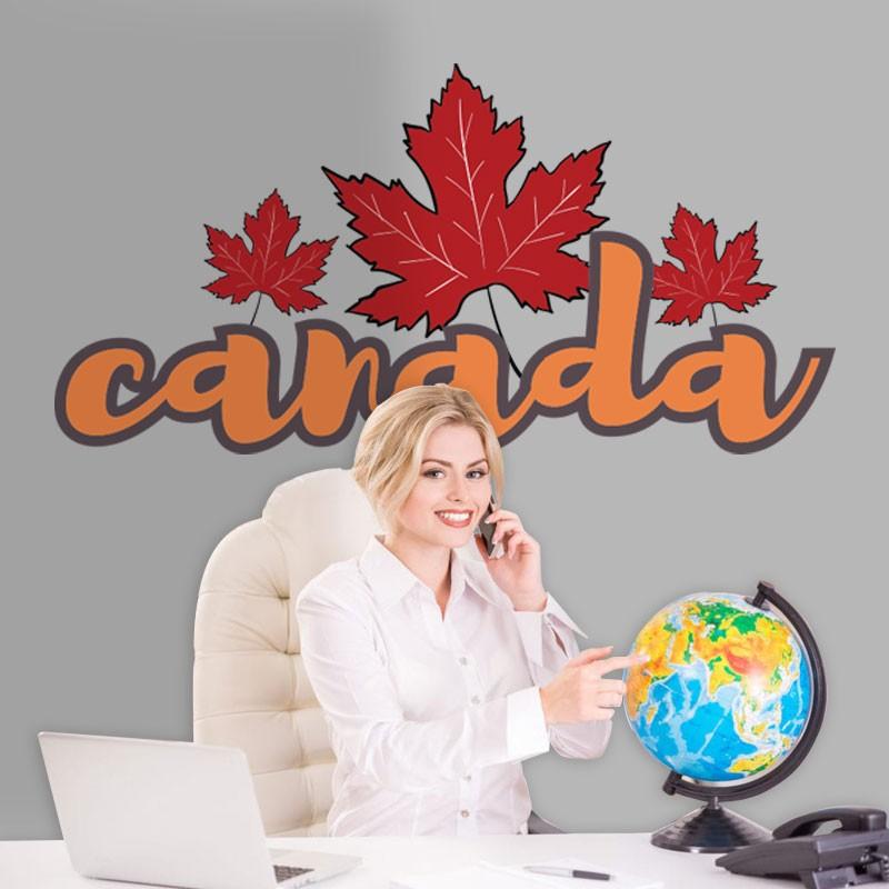 Αυτοκόλλητο Τοίχου - Canada