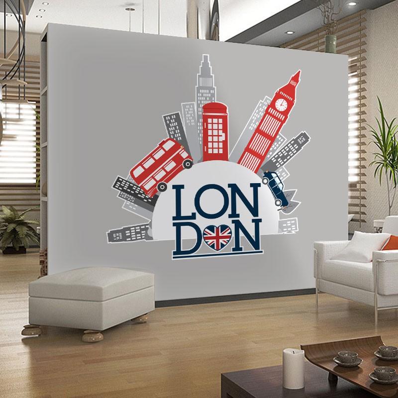 Αυτοκόλλητο Τοίχου - Travel To London