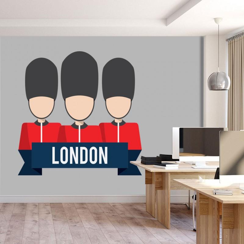 Αυτοκόλλητο Τοίχου - London Soldiers
