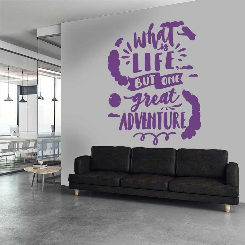 Αυτοκόλλητο Τοίχου - Life IS A Great Adventure