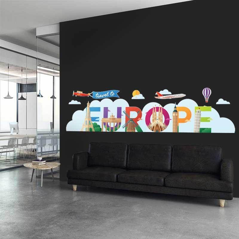 Αυτοκόλλητο Τοίχου - Europe