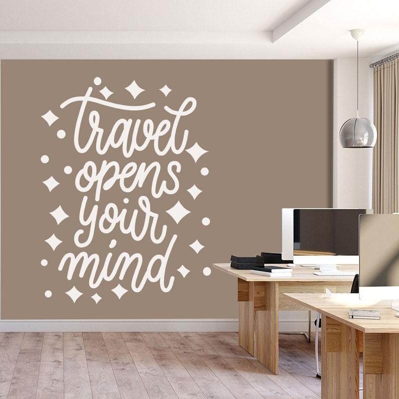 Αυτοκόλλητα Τοίχου - Travel Opens Your Mind