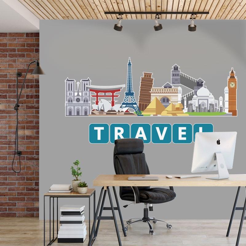 Αυτοκόλλητο Τοίχου - Travel