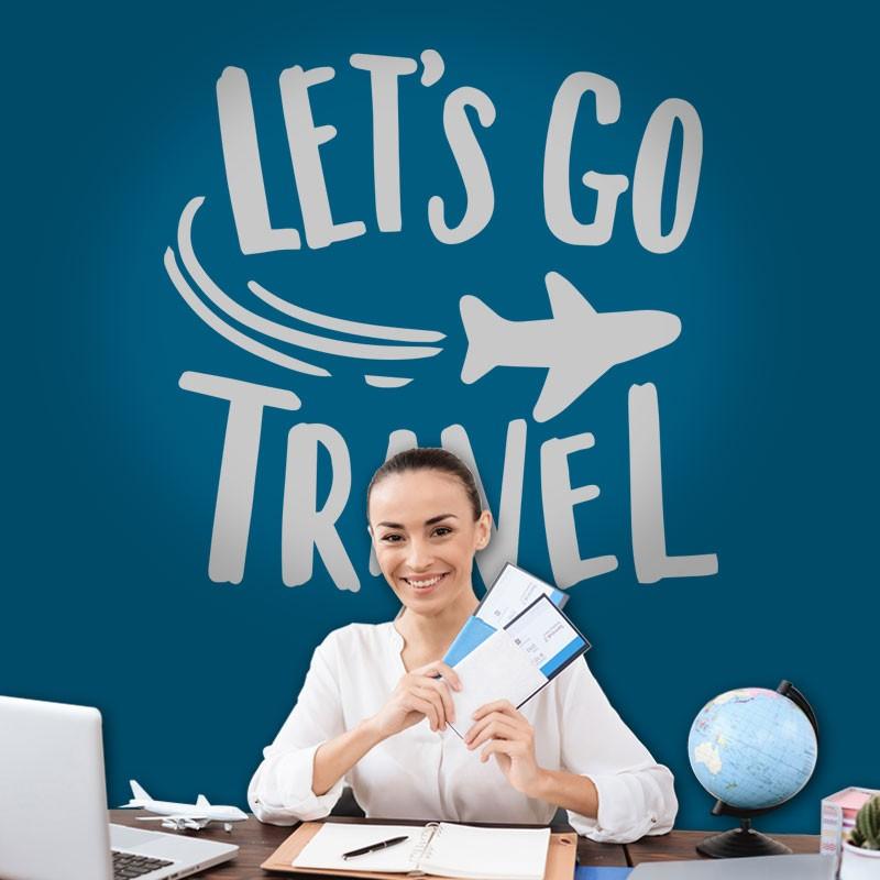 Αυτοκόλλητο Τοίχου - Let's Go Travel
