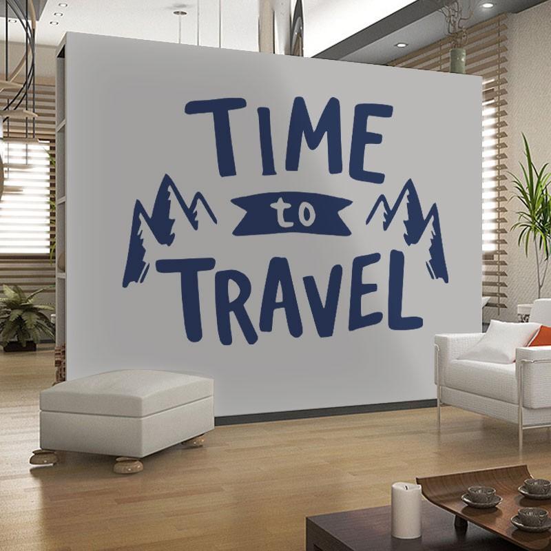 Αυτοκόλλητο Τοίχου - Time To Travel