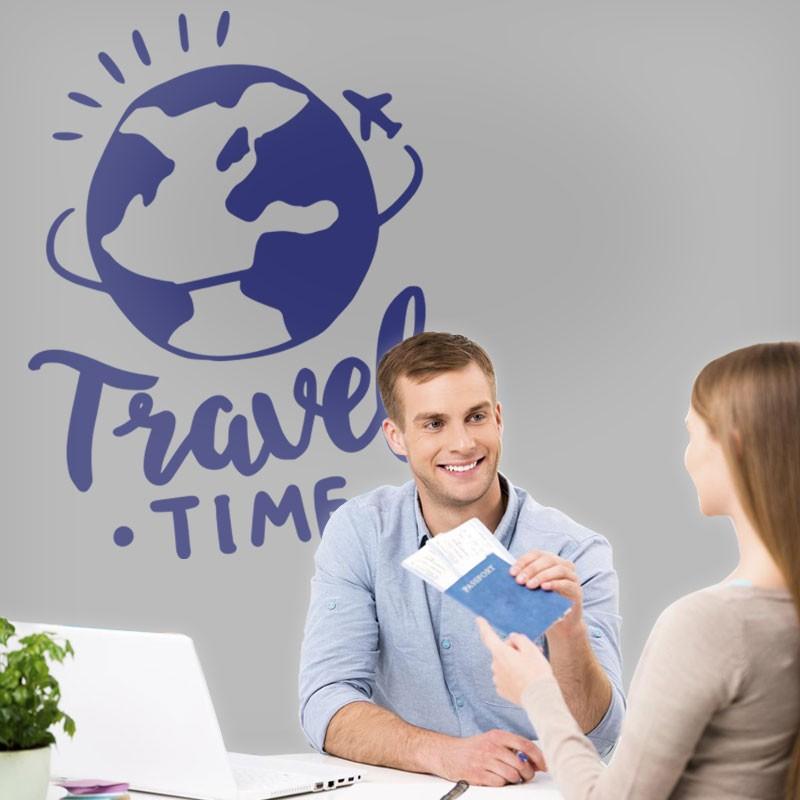 Αυτοκόλλητο Τοίχου - Travel Time