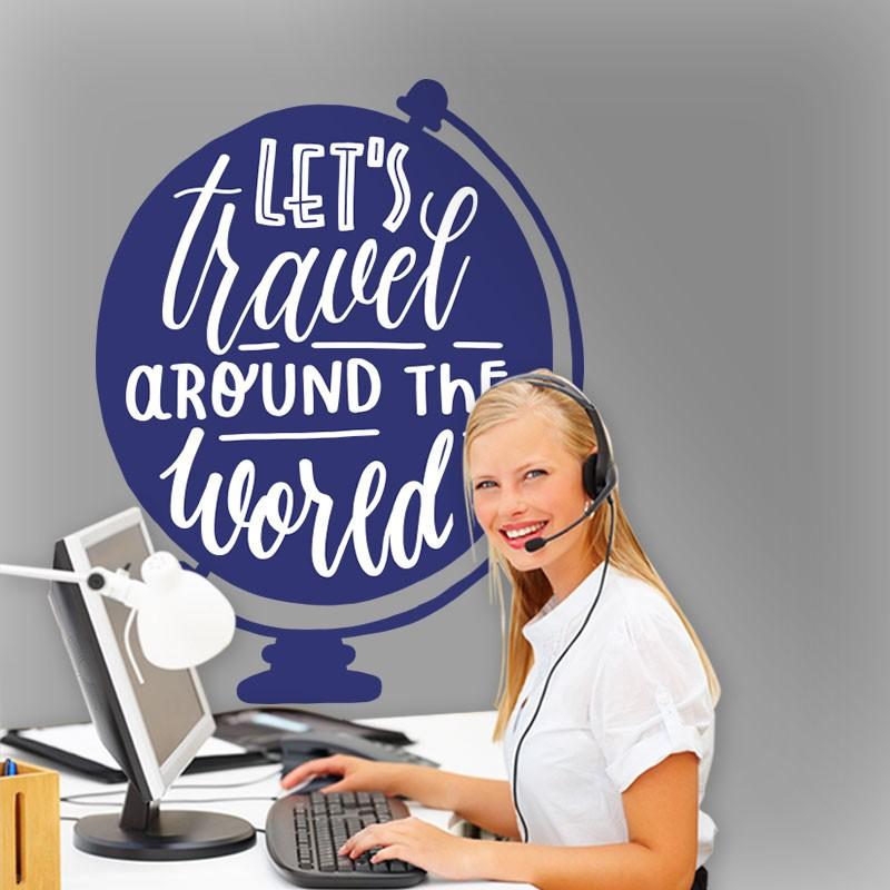 Αυτοκόλλητο Τοίχου - Let's Travel...